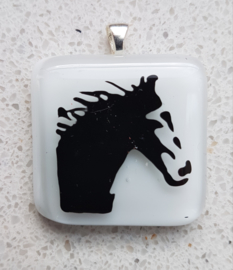 horse glass pendant necklace atelier bertina