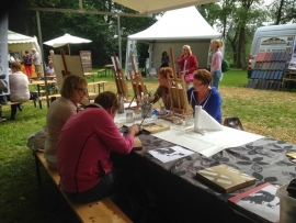 Workshop schilderen op de fair