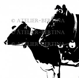 Koeien in de wei acryl 2011