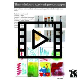 Les live /tutorial: acrylverf gereedschappen