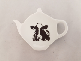 Tea bag / tea tip holder cow