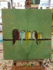 Resultaten vrijdag 17 augustus 2018 workshop schilderen in Raalte Waag 10