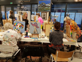 Resulaten: Familie uitje zaterdag 12 januari 2019 workshop schilderen in Raalte Waag 10