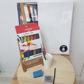 Thuis workshop: schilderen op canvas of steigerhout doek
