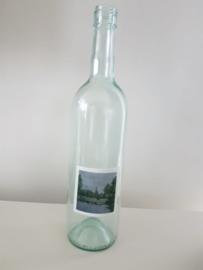 Fles met Raalte aquarel : sfeerlicht, nootjes, suikerpot of vaasje.