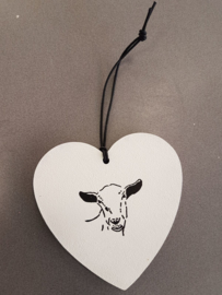 Decoration heart with goat