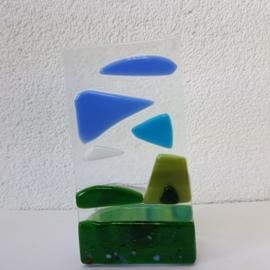 Sfeerlichtje landschap glasfusion