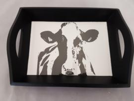 Dienblad koe zwart wit