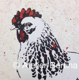 Chicken acrylic painting