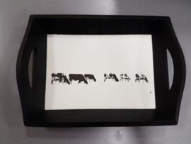 Dienblad koeien zwart wit