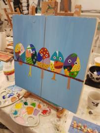 Rezultaten zaterdag 17 augustus workshop schilderen in Raalte Waag 10