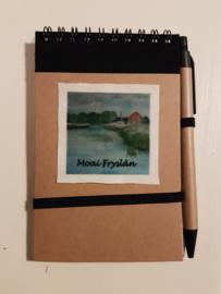 Notitie boekje boerderij bij de oude vaart (Moai Fryslân)