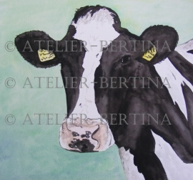 Cow watercolor painting