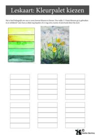 Stap voor stap tutorial: kleurenpallet kiezen aquarelverf