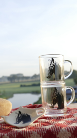 Paarden theeservies set 2 personen