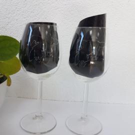 Koeien wijnglas