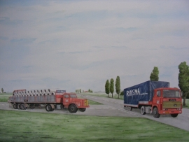 Truck watercolor painting