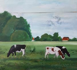 Acryl schilderijen op steigerhout
