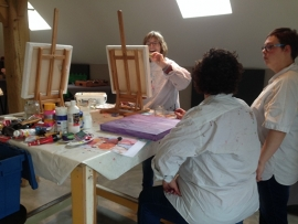 Resultaten: Mei 2016 individuele opgave workshop schilderen op de Maathoeve
