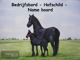 Horse Company Nameplate design 5