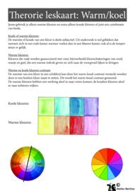 Stap voor stap tutorial: warm en koele kleuren met aquarelverf