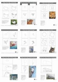 10 leskaart: stap voor stap schetsen (Serie 2)