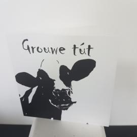 wenskaart: grouwe tut (grote kus)