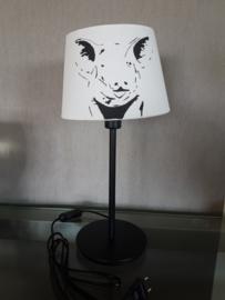 Varken lamp met ronde poot