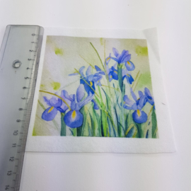 Iris bloem stofje 10 cm