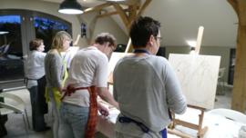 Resultaten: 4 oktober individuele opgave workshop schilderen te Maathoeve