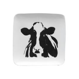 Platte mit Kuh