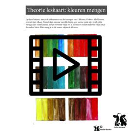 Les live /tutorial: kleurenkaart maken acryl schilderen