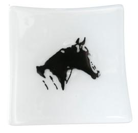 Glazen paarden schaaltjes  glasfusion