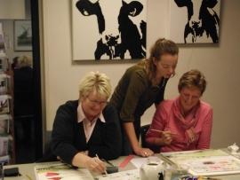 10 schilder lessen acryl en aquarel. Atelier-Bertina te  Waag 10 raalte