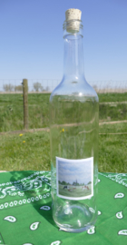 Fles met koeien aquarel : sfeerlicht, nootjes, suikerpot of vaasje.