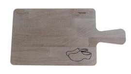 klompen brood plank / kaas plank recht.
