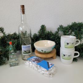 Koeien kerst cadeau / pakket