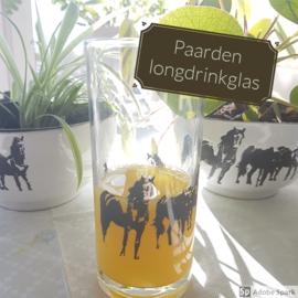 Paarden longdrinkglas