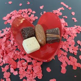 Valentijds harten  schaaltje middel