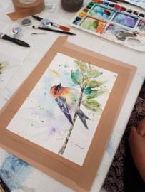 Donderdag 6 augustus: workshop aquarel schilderen (op papier) in Raalte Waag10
