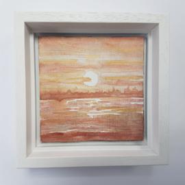 Zonsondergang: Mini aquarel