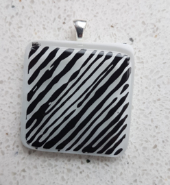 stripe glass pendant necklace atelier bertina