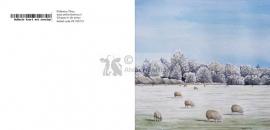 Winter schapen wenskaart
