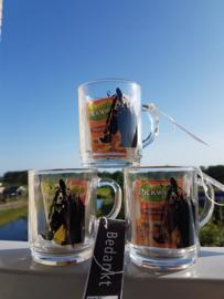 Bedankt: Paarden theeglas met theezakjes