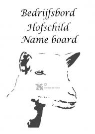 Ziege Unternehmen Name Board-Design 15