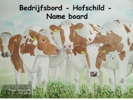 Cow Company Nameplate design