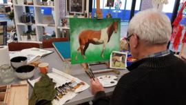 5 schilder lessen acryl en aquarel. Atelier-Bertina te  Raalte