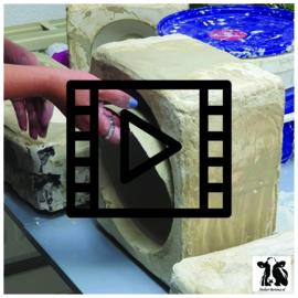 les live /tutorial keramiek: kommetje van gietklei uit mal en bewerken