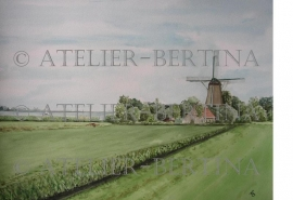 Landschafts Aquarell malerei