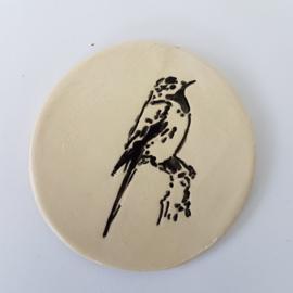 Vogel onderzetter keramiek